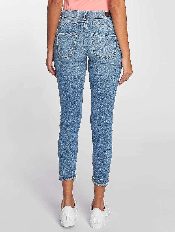 7a086dcb890e ONLY Damen Jeans Hose onlDYLAN Low SK ANK Pushup Skinny Denim Ankle  Mittelblau knöchellang
