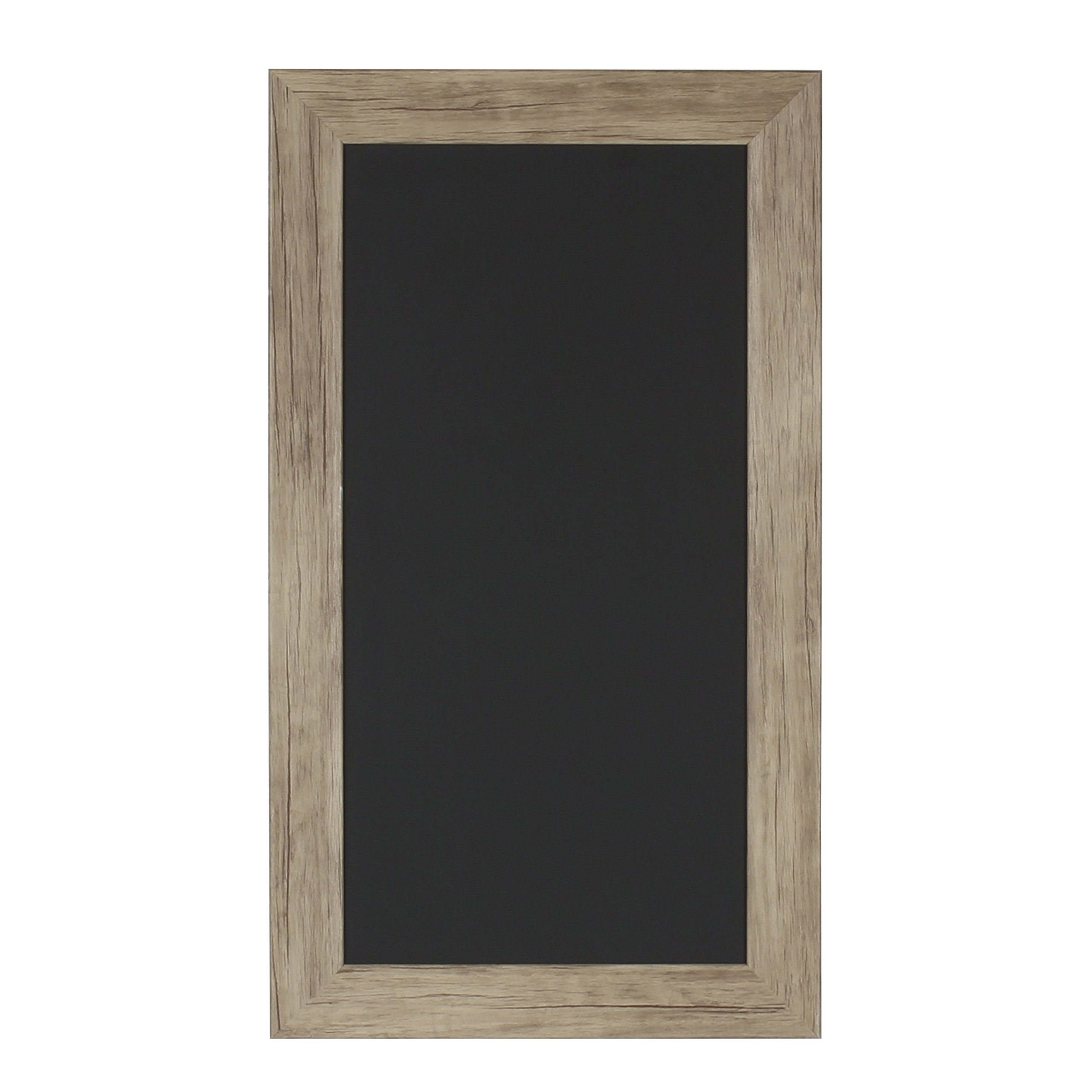 DesignOvation Beatrice Wall Mounted Framed Magnetic Chalkboard, 13x23, Rustic Brown by DesignOvation
