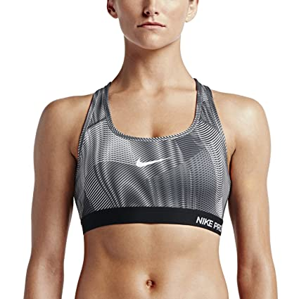 918a60c45e7d3 Nike Womens Pro Classic Padded Frequency Sports Bra Black White 743204-010  Size X