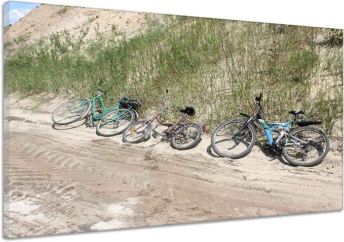 Bicicleta vacaciones textura Arena Hierba Verde Lienzo Póster Impresión de vv3084, lona, verde, 150x100: Amazon.es ...