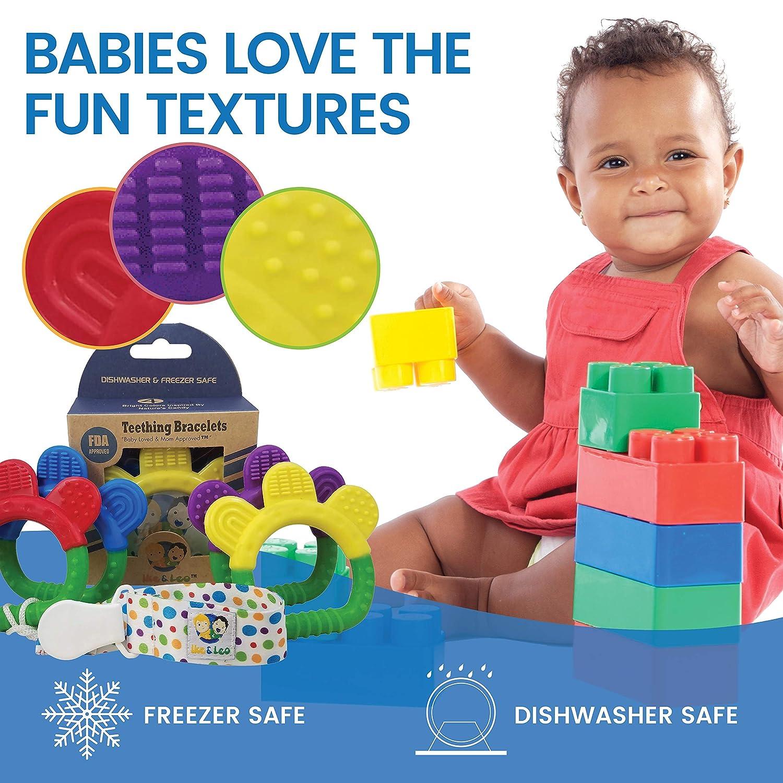 Ike & Leo Juguetes para la dentición - Pulseras: infantil del bebé ...