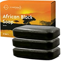 O Naturals African Black Soap Bar, Luxurious Texture Triple Milled Soap. Moisturizing Shea Butter Natural Body Soap…