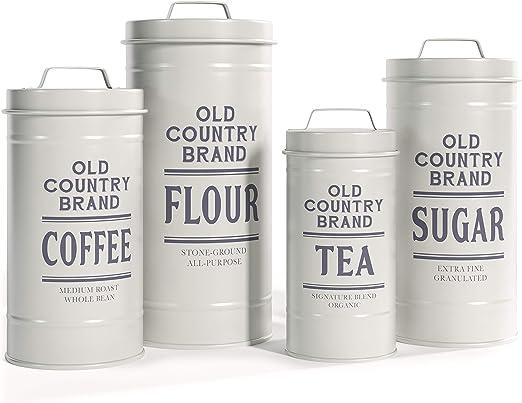 Country Themed Coffee Jars