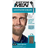 Just For Men Moustache & Beard, Beard Dye For Grey Hair With Brush Included, Eliminates Grey For A Thicker & Fuller Look…