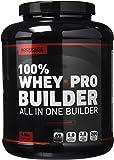 Bodyraise 100% Whey Pro Builder 1814g - Isolat de protéine concentré en poudre - Délicieux goût chocolat - 35g de whey par dose - BCAAs extra, créatine, glutamine et plus de 17 vitamines et minéraux différents - Booste le croissance, la force et l'énergie musculaires - 36 doses !