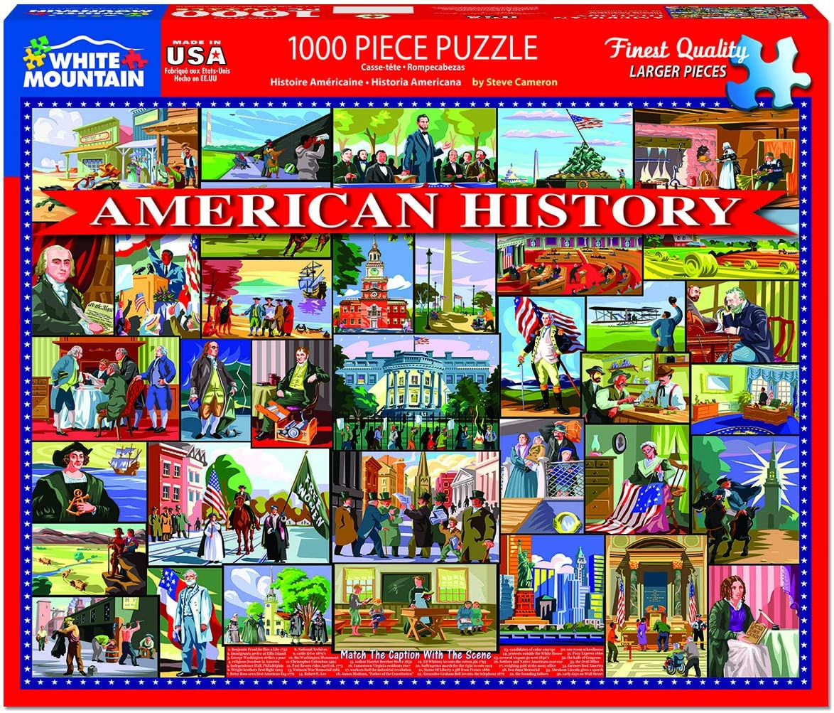 White Mountain Puzzles American History 1000 Piece Puzzle, 1 EA