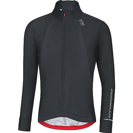 Gore Bike WEAR Mens Cycling Jersey, Long Sleeves, Warm, Gore Windstopper, Oxygen