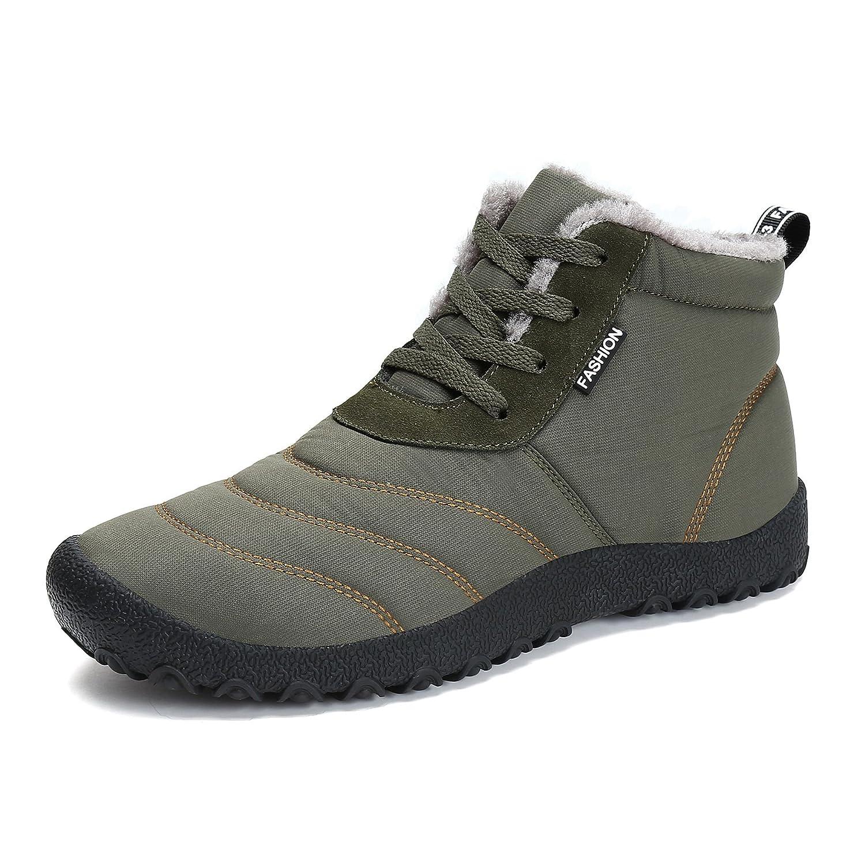 LFEU Homme Femme Bottes de Neige Fourré Boots Confortable Femme Courtes de Pied Large Chaussure Hiver Chaud Confortable 37.5-44.5 Vert 025accc - piero.space