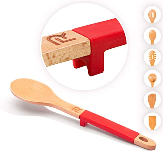 Long-Handle Wooden Toe-To-Stick Pan Turner Wooden Spoon Kitchen Spoon Kitchen