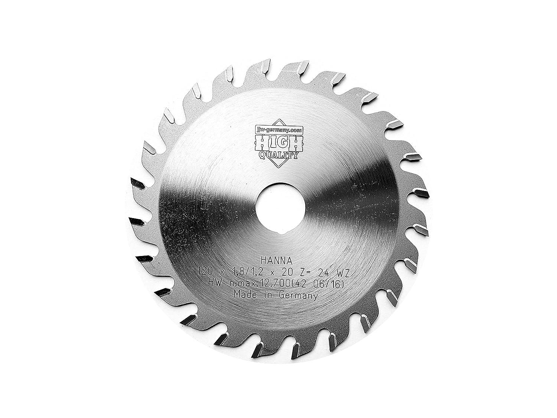 HM-hoja de sierra circular=D 120 x 20 mm con 24 dientes WZ para Mafell KSS 300 o de PPC 40