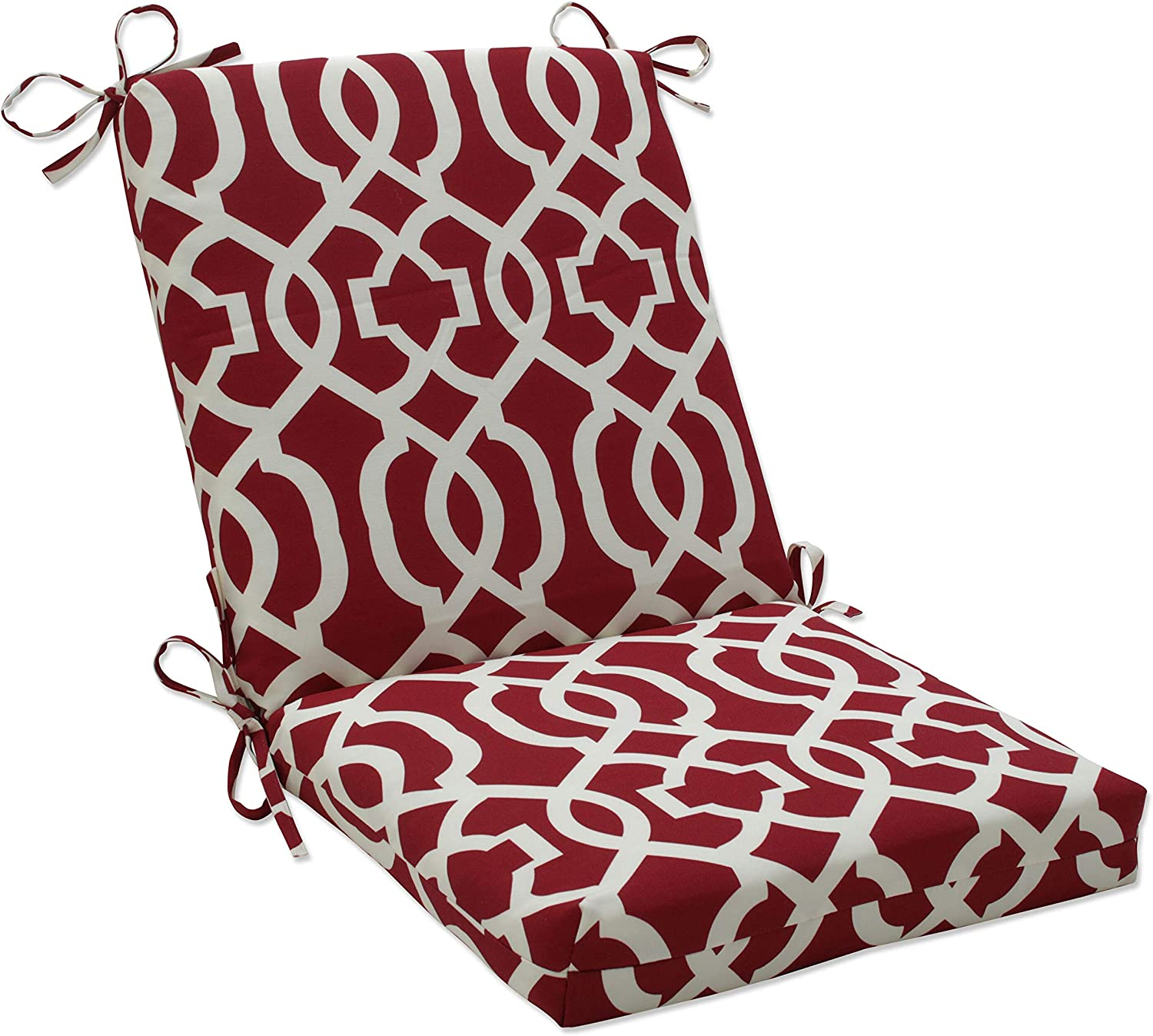 Amazon Com Pillow Perfect Outdoor Indoor New Geo Square Corner Chair Cushion 36 5 X 18 Red Home Kitchen