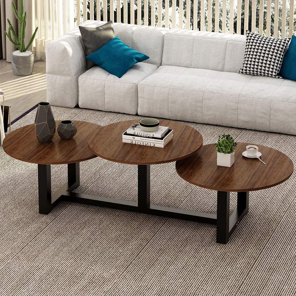 Amazon Com Big Coffee Table Little Tree 62 Modern Industrial