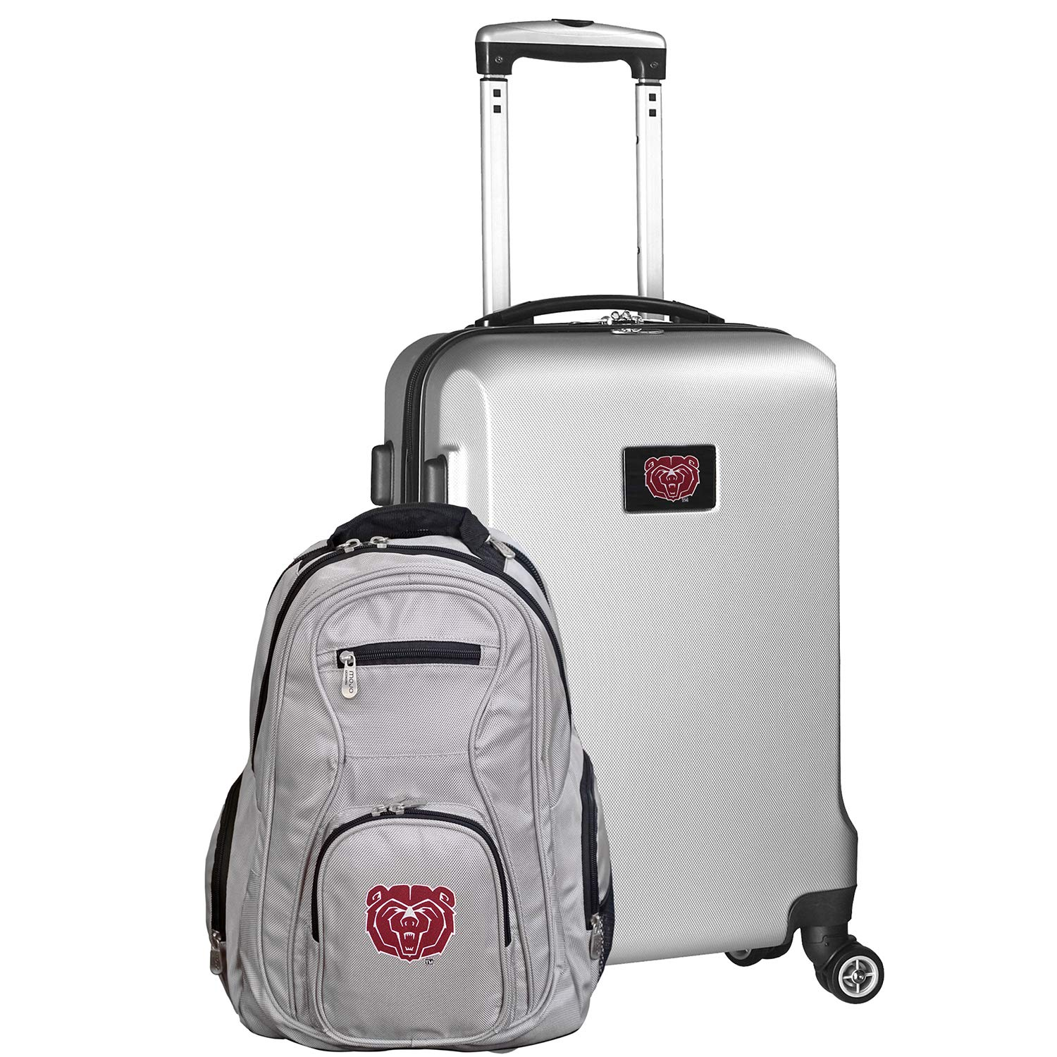 NCAA Deluxe 2-Piece Backpack /& Carry-On Set Silver