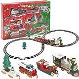Viscio Trading 172492 Trenino di Natale, Plastica, Multicolore, 90x42x1 cm
