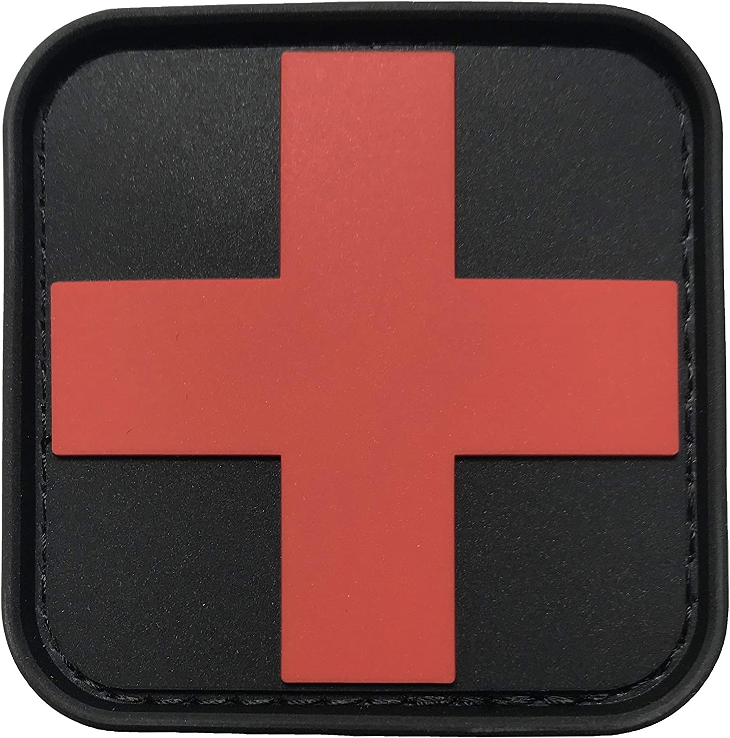 2x First Aid Sticker 10x10cm with protective laminate Accident Protection Dressing Box