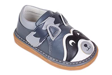 09d7707a366fa Amazon.com | Wee Squeak Raccoon Toddler Squeaky Shoes | Sneakers
