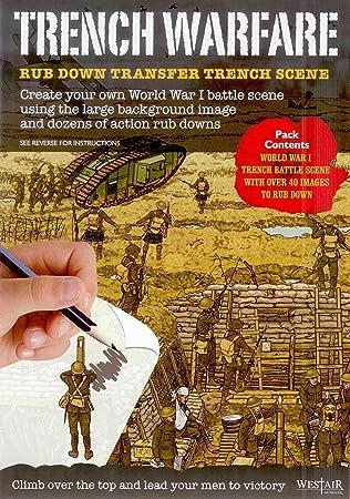 Buzz Brand New Trench Warfare Rub Down Transfers World War 1 Battle Scene