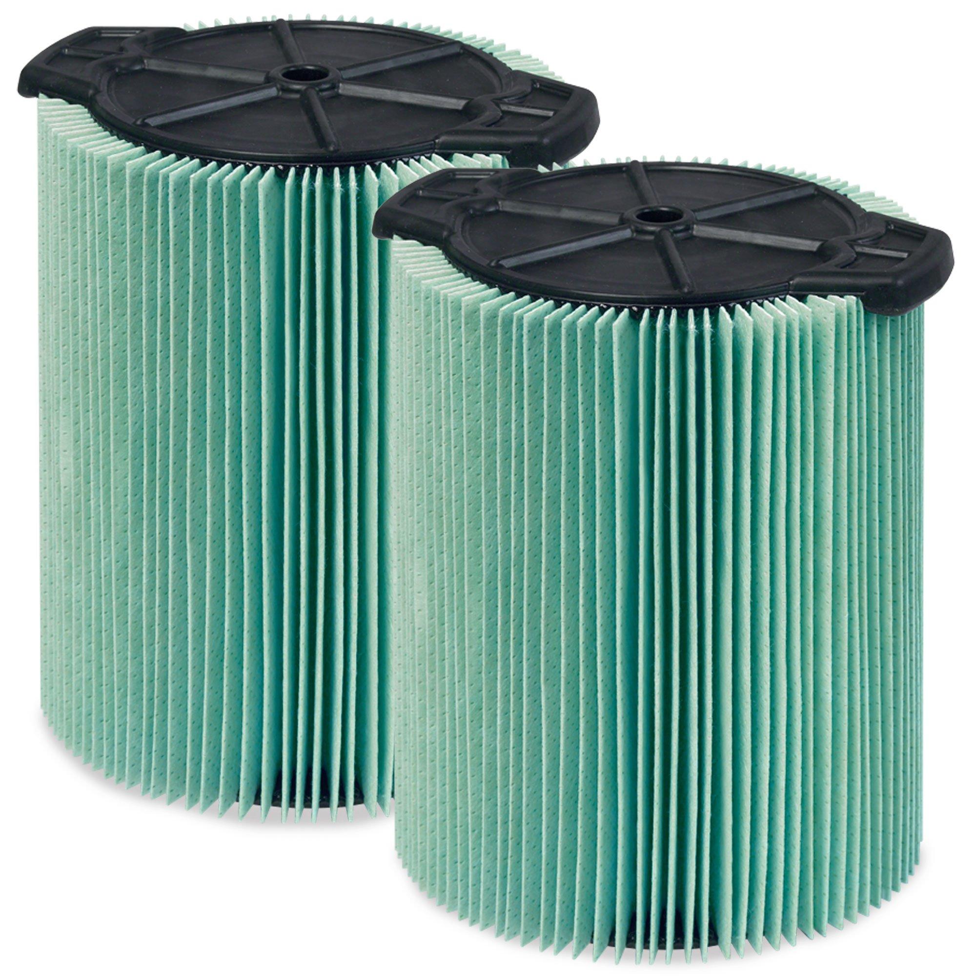 WORKSHOP Wet Dry Vacuum Filters WS23200F2 HEPA Media Filter For Shop Vacuum Cleaner (2-Pack - HEPA Media Filter For Wet Dry Vacuum Cleaner) Fits WORKSHOP 5-Gallon to 16-Gallon Shop Vacuum Cleaners by WORKSHOP Wet/Dry Vacs