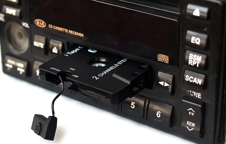 EDR pour Voiture Le Lecteur de Cassette iTape sans Fil 3/ème g/én/ération Le Plus r/écent Fonctionne Tout en chargeant ladaptateur r/écepteur Audio st/ér/éo Bluetooth V4.0