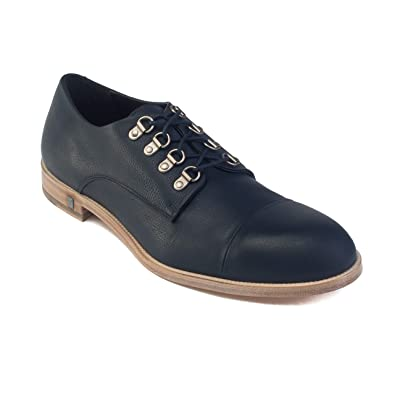 eac57e62fb543a Image Unavailable. Image not available for. Color  Versace Men s Leather  Medusa Lace-up Oxford Dress Shoes Navy Blue