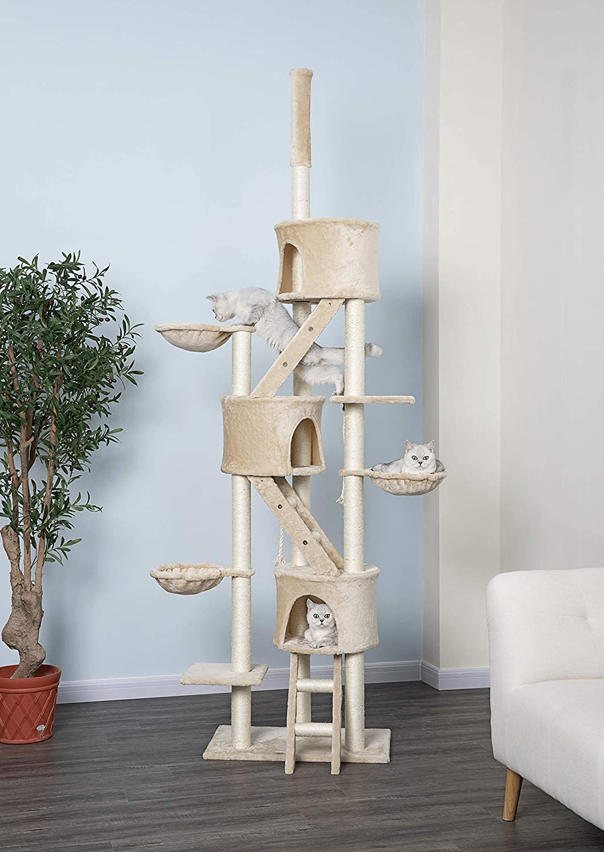 Go Pet Club Huge Cat Tree Beige Color: Pet Supplies