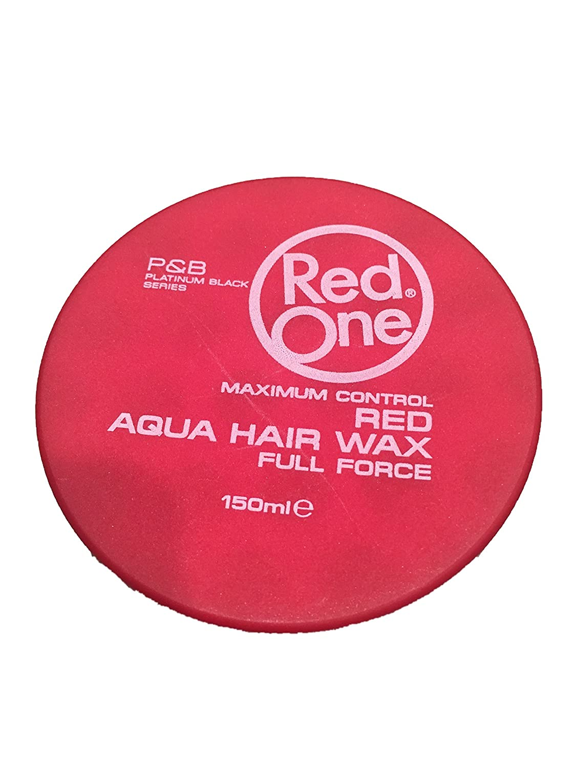 Red One Red Aqua Hair Wax 150ml NEW Platinum Black Series Hair Styling Pomade Strawberry Scent by Red One 7439