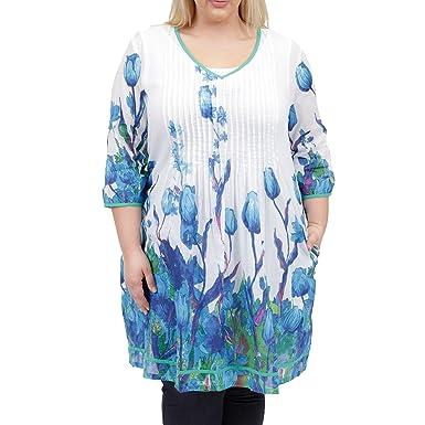 031e5b1b800 La Cera Women s V-neck Pleated Front Short Dress Plus Size at Amazon  Women s Clothing store