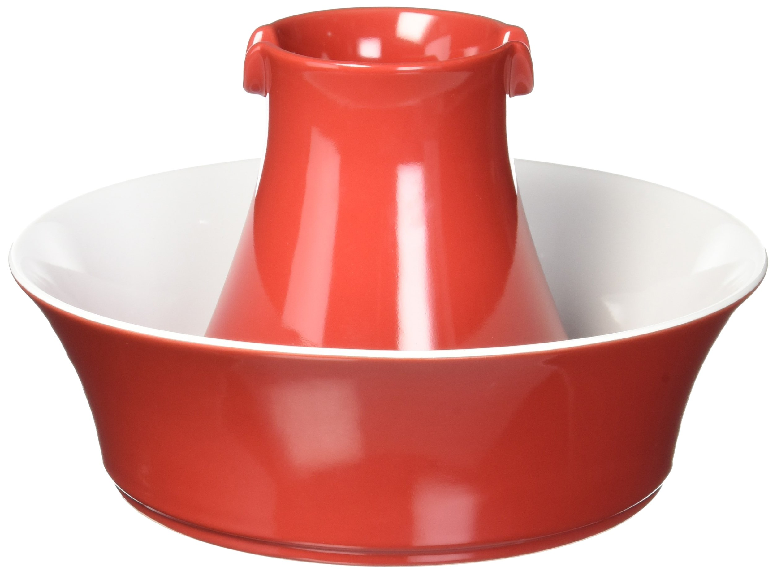 PetSafe Drinkwell Avalon Ceramic Dog and Cat Water Fountain, Red, 70 oz.