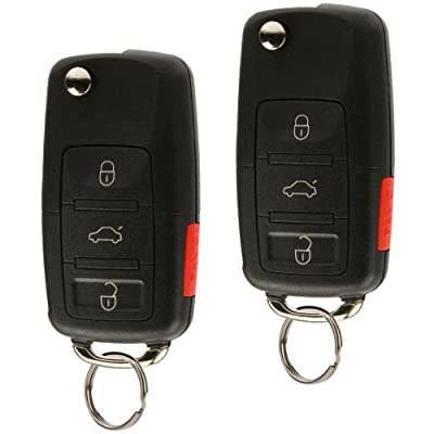 Replacement Keyless Entry Remote Flip Key Fob fits 2002 2003 2004 2005 VW Jetta, Golf, Passat (HLO1J0959753AM, Set of 2): Automotive