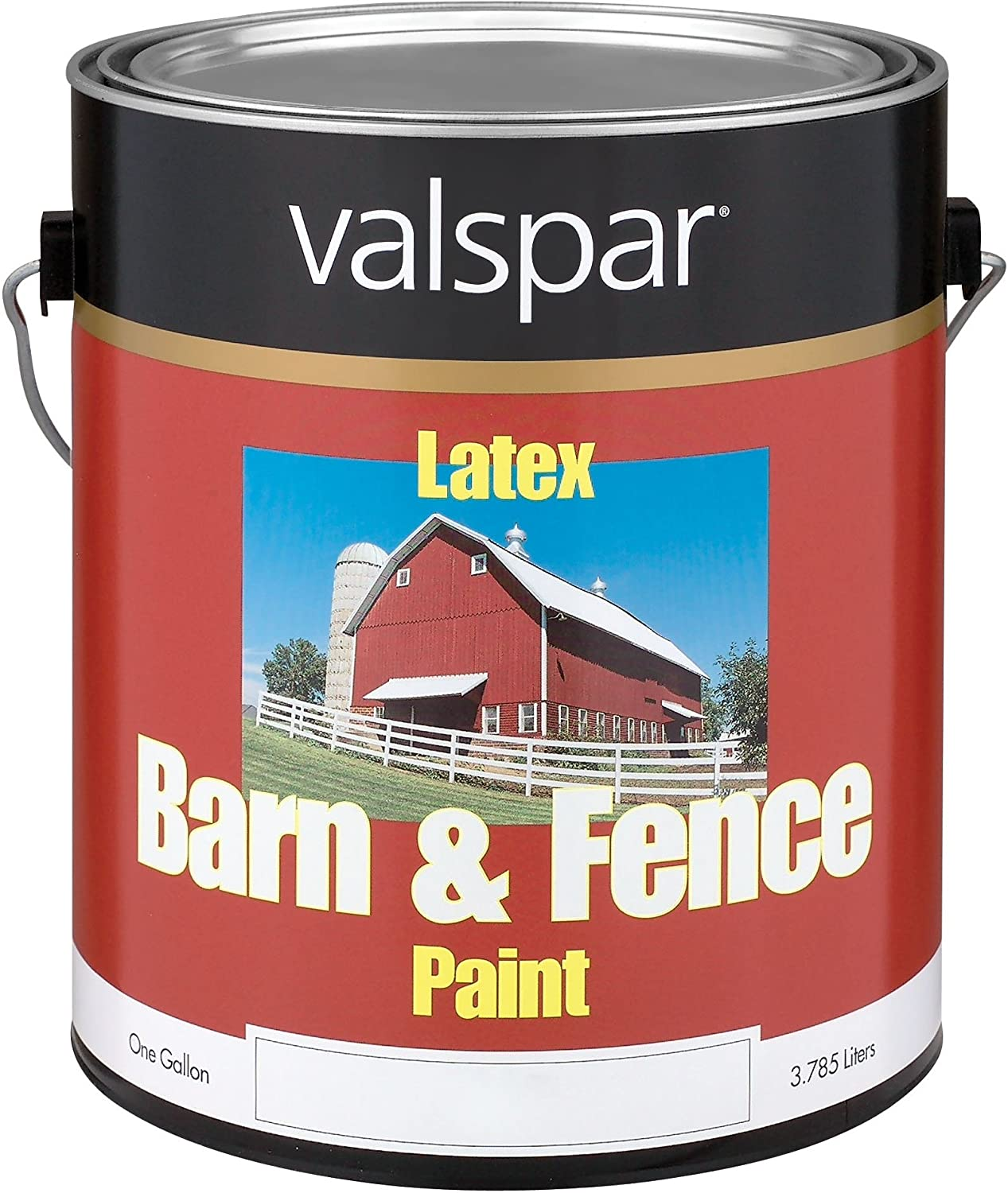 Amazon.com: Valspar 3125-10 Barn and Fence Latex Paint, 5-Gallon ...