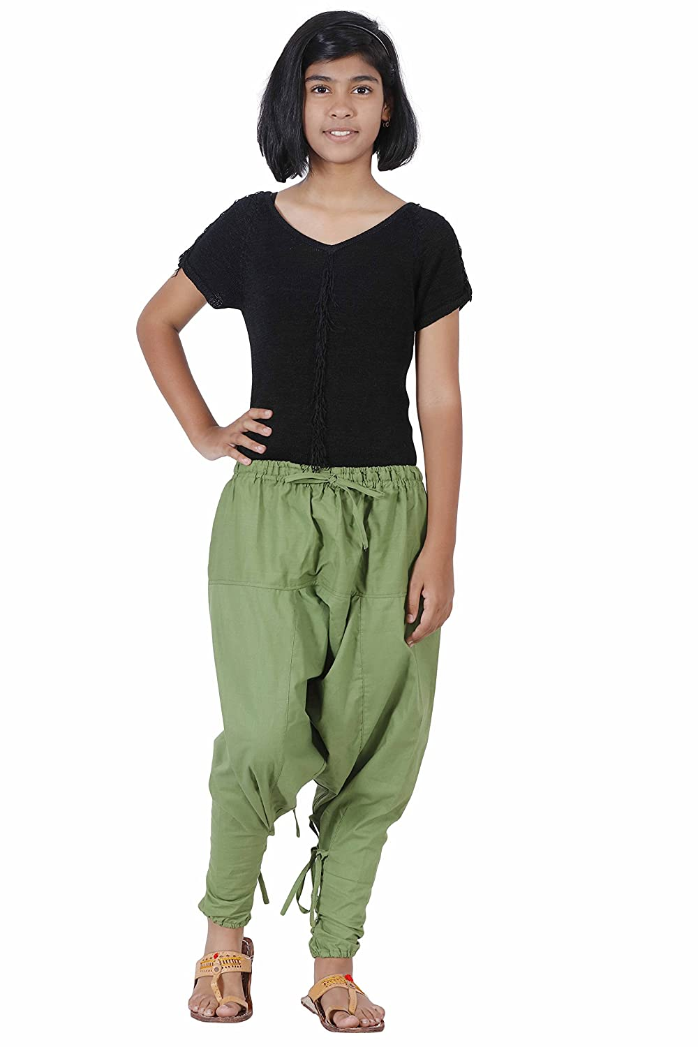 Samurai Style Kids Harem Cotton Hippie Boho Summer Dance Playful Pants