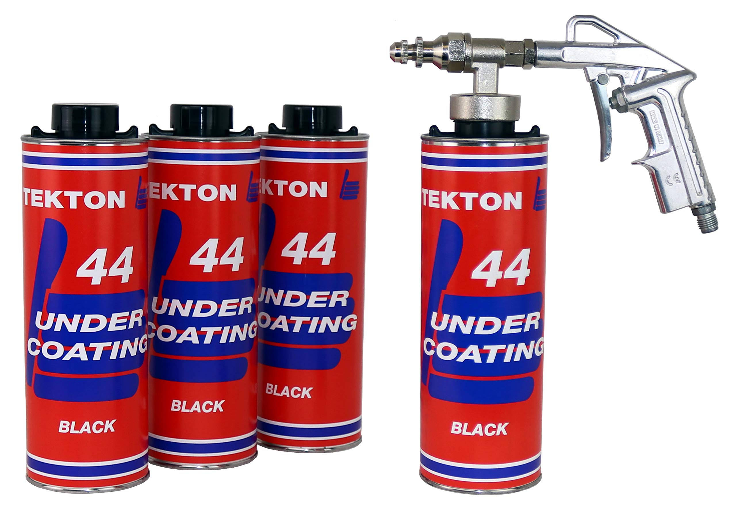 Tekton44 Undercoating for Vehicles Black Undercoating Kit Includes Spray Gun and Undercoating Wand (4)