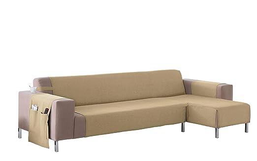 Martina Home Cubre sofá Chaise longue modelo Betta - Tela - Brazo derecho - color Crudo - medida 240 cm ancho.