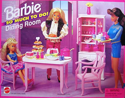 Amazon.com: Barbie So Much To Do Dining Room Playset (1995 ...