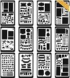 Bullet Journal Stencil Set Plastic Planner for Journaling,Scrapbooking,Notebook,Diary,Card,Art - Bullet Journal Stencil DIY Projects Drawing Template Stencil 4x7 Inch