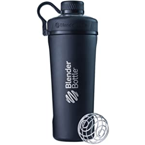BlenderBottle Radian Insulated Stainless Steel Shaker Bottle, Matte Black, 26-Ounce