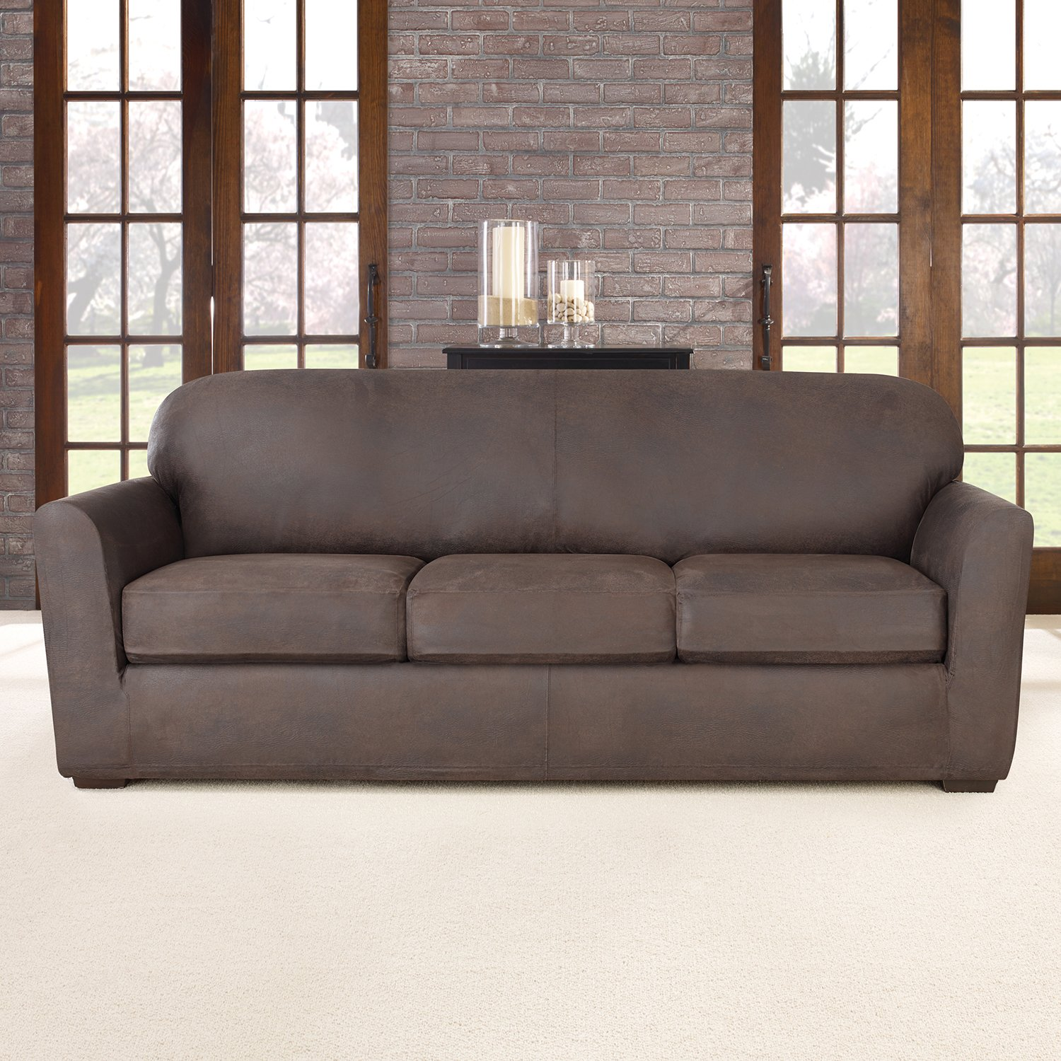 Beautiful Amazon.com: Sure Fit Ultimate Stretch Leather   Sofa Slipcover   Weathered  Saddle (SF44050): Home U0026 Kitchen