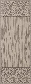 """product image for Heritage Lace Leaf Lines Table Runner, 14"""" x 36"""", Flax/Black"""