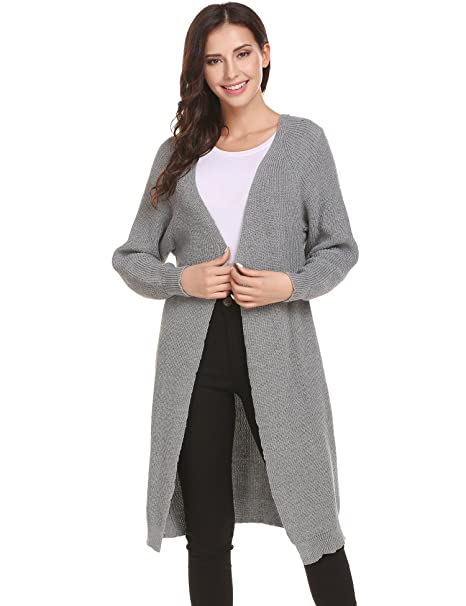 38a42a4c38b Zeagoo Womens Long Sleeve Turtleneck Hooded Aran Zipper Knitwear Cable Knit  Maxi Cardigan Sweater