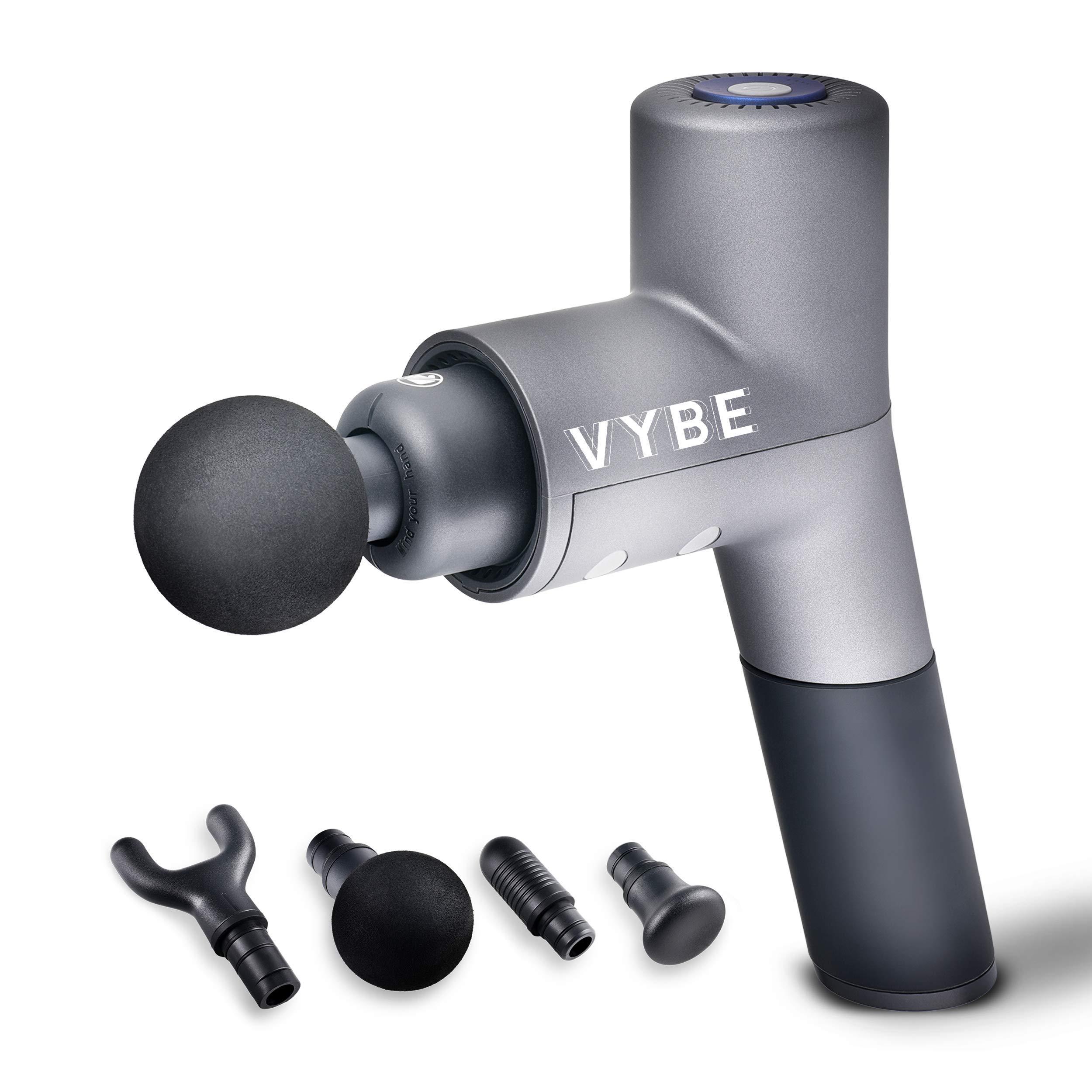 Quiet Professional Percussion Massage Gun - Vybe PRO Premium Handheld Deep Muscle Massager