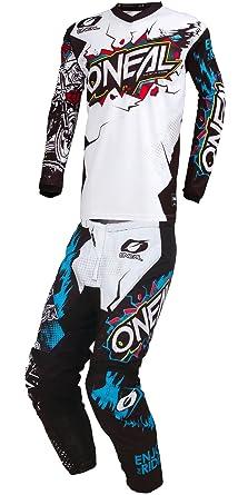 ONeal MX Riding Gear Combo Set Mens Black /& White Medium//32W Motocross Off-Road Dirt Bike Jersey /& Pant 2019 Element Villain