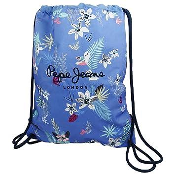 Pepe Jeans Mireia Mochila Bolso Saco Escolar Tiempo Libre Mujer Chica Azul: Amazon.es: Equipaje