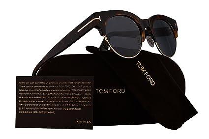 a86f373ea02 Amazon.com  Tom Ford FT0598 Henri-02 Sunglasses Colorful Havana w ...