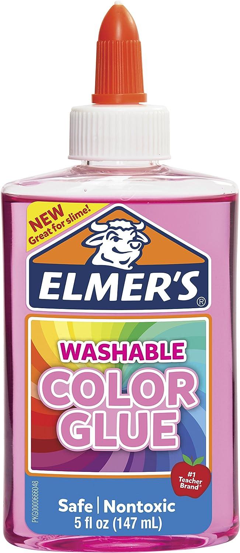Elmer's Washable Translucent Color Glue, Pink, 5 Ounces, Great for Making Slime