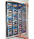 Mascar Pro Hotwheels Matchbox 1/64 scale Display case Black with Clear Snap-On Dust Cover for up to 52 cars
