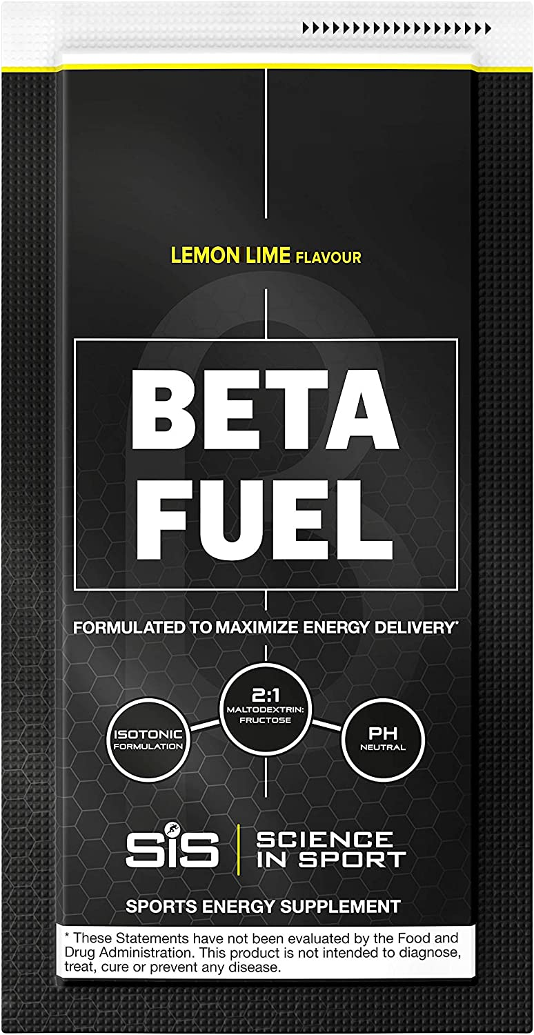Science in Sport Beta Fuel, Endurance Energy Drink, Isotonic Sports Drink with 80g of Carbohydrates, Lemon & Lime - 12 Grab and Go Sachets: Health & Personal Care
