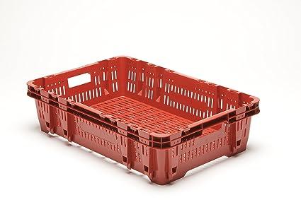 Plástico Caja fev120 Caja de verduras fruta (apilables Caja multiusos caja respetuoso con el medio