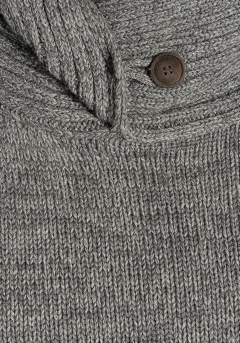 !Solid Prentice Maglione in Maglia Grossa Pullover Maglieria da Uomo con Collo Alto in Cotone 100/%