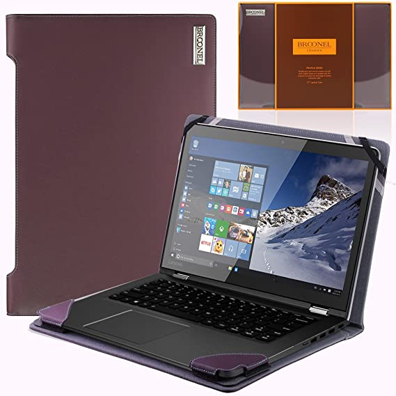 more photos a567c d496d Broonel London - Profile Series - Purple Vegan Leather Luxury Laptop Case  Cover Sleeve for The Lenovo Yoga 510 15.6