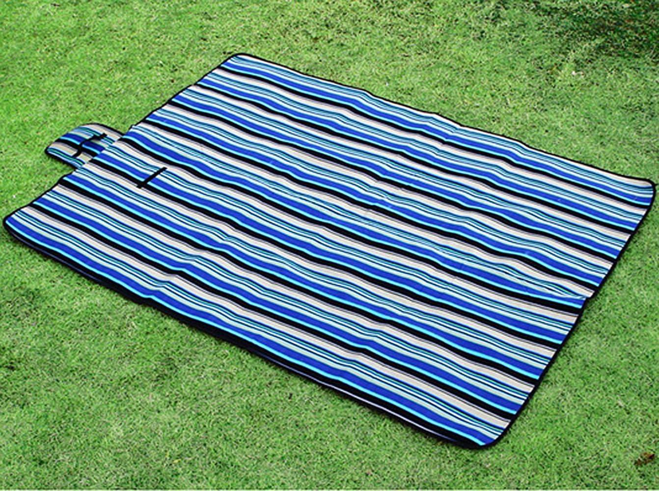Tappetino Da Picnic Mat Campeggio Tenda Prova D'umidità Impermeabile Spiaggia Mat Rosa Blu Comfort Picnic Mat 150Cm * 200Cm * 0,25 Centimetri Stuoia Pieghevole Blue